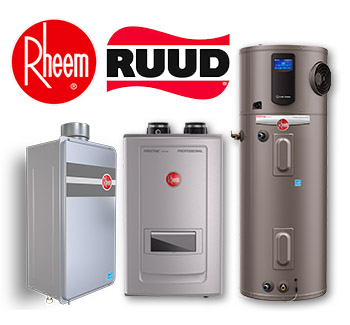 Rheem RUUD water heating sales and installation