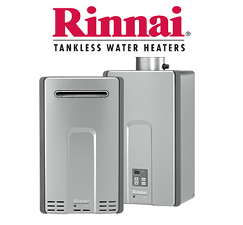 Rinnai tankless water heating sales and installation