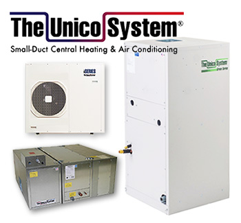 Unico System Small Duct heating air conditioning sales and installation