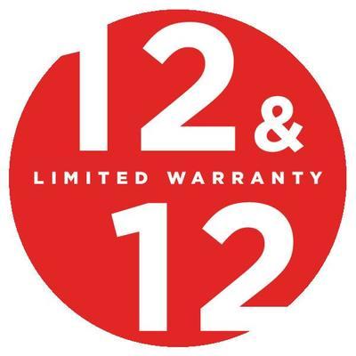 12&12 warranty logo