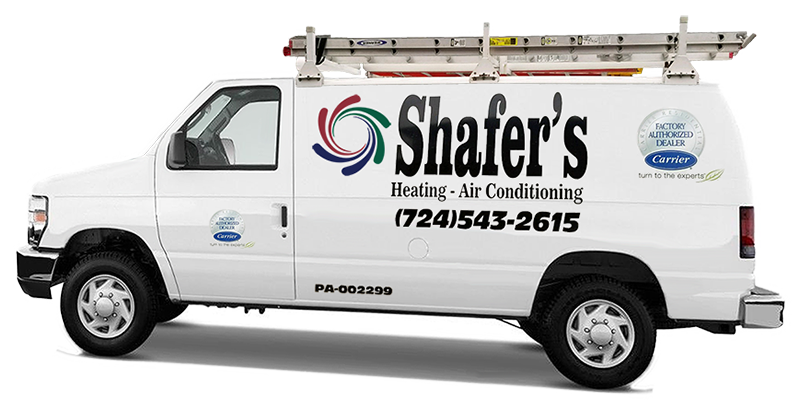 Shafer's Heating Air Conditioning van